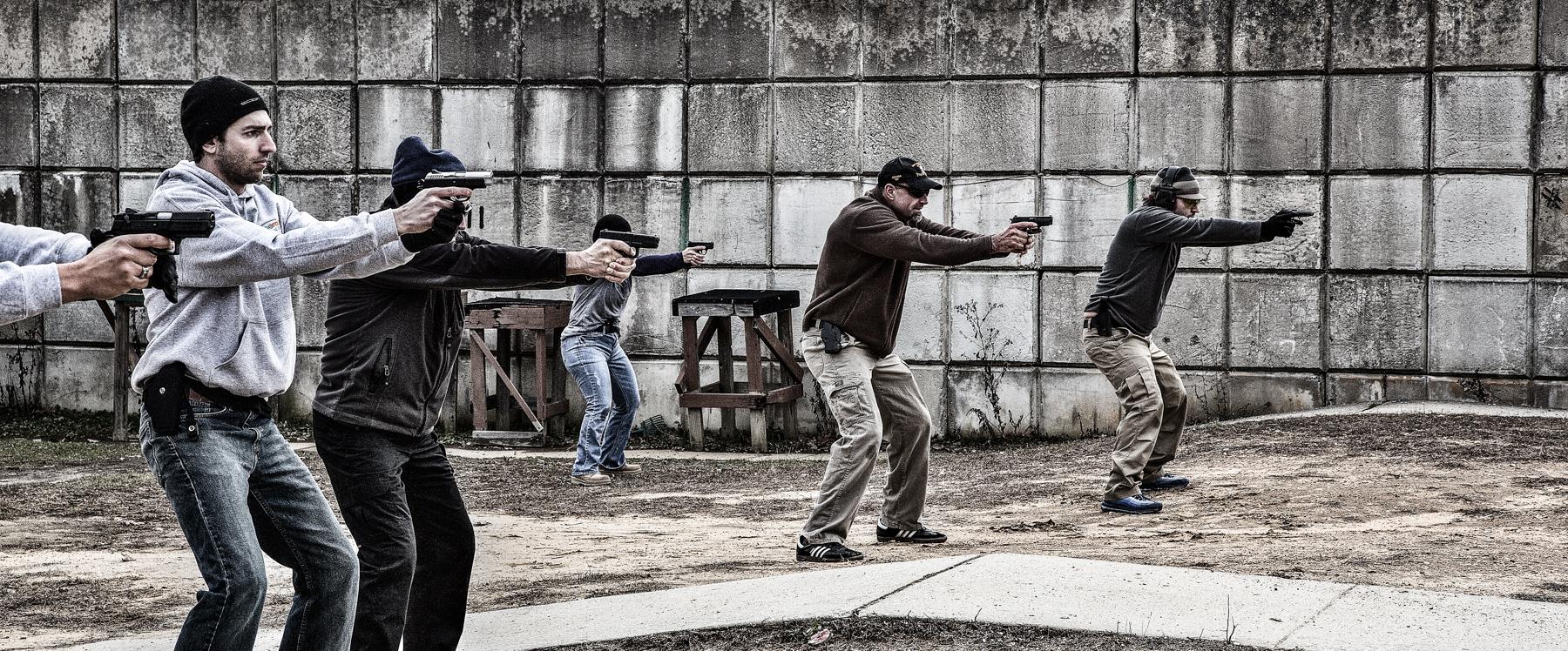 active shooter defensive shooting handgun training